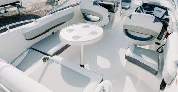 cockpit area on deck boat